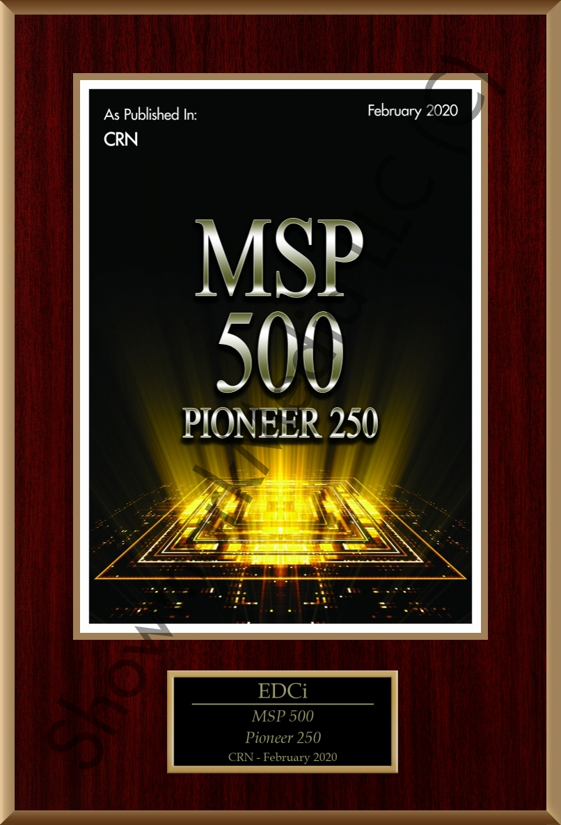 EDCi MSP 500 plaque