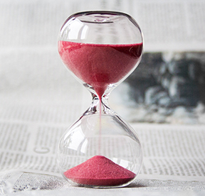 Hourglass, time is running out